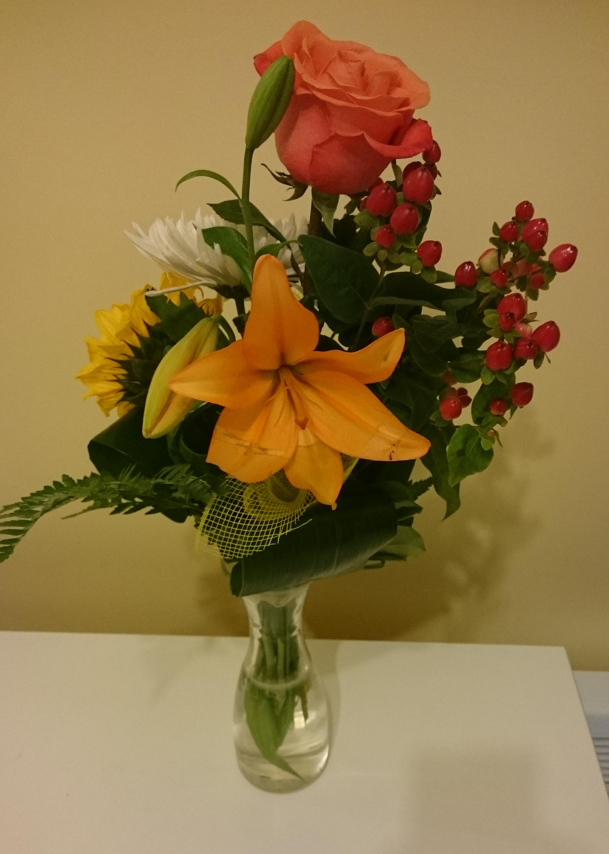 Bouquet reçu pour ma retraite