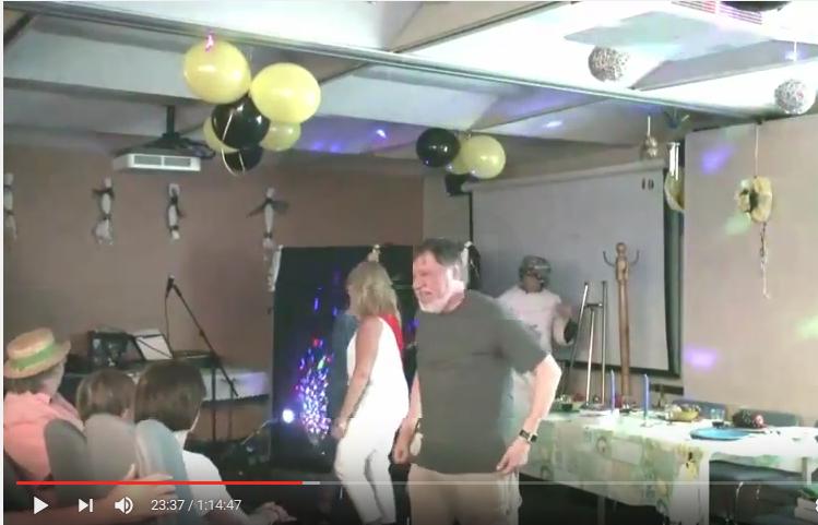 André et Ann Quesnel après quelques pas de danse