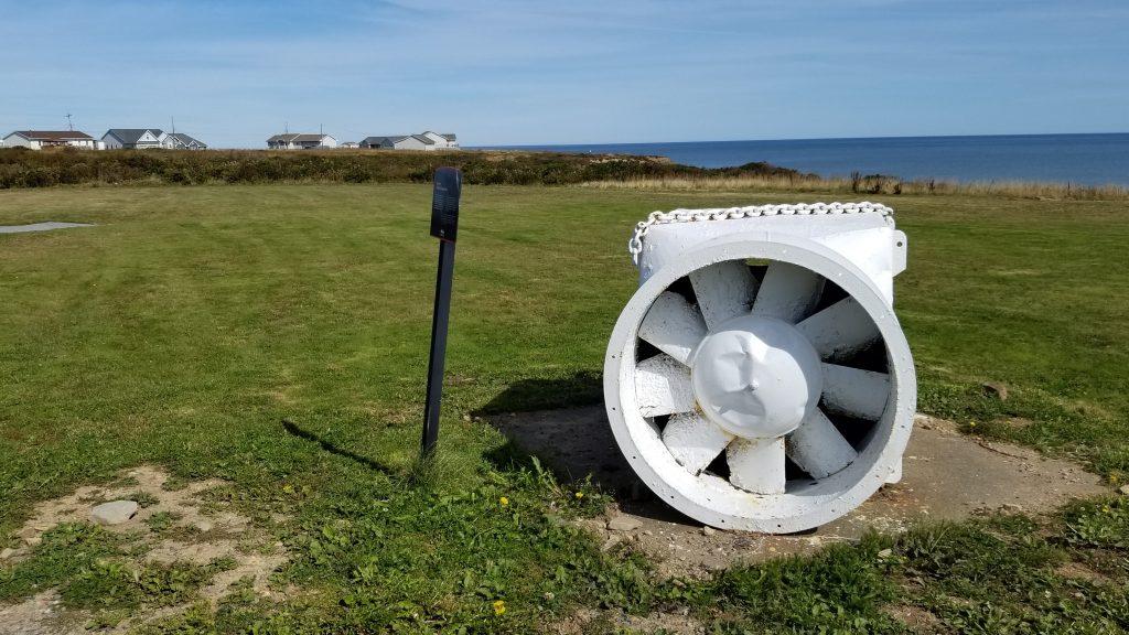 Un ventilateur minier dans le terrain du musée