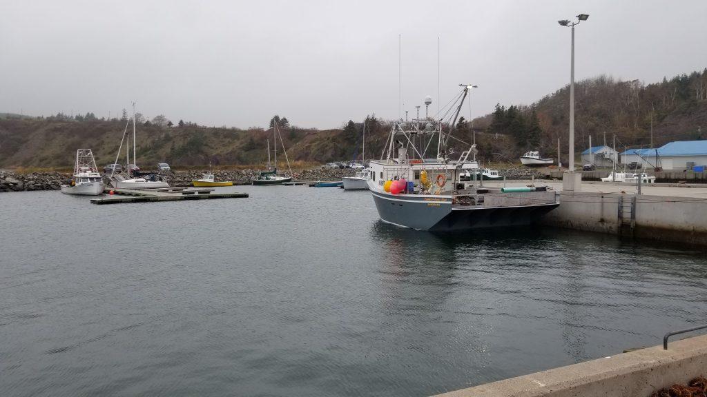 Petit port de pêche à Cap Georges